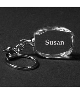 Personalized Genuine Crystal Keychains - uncommon-etching