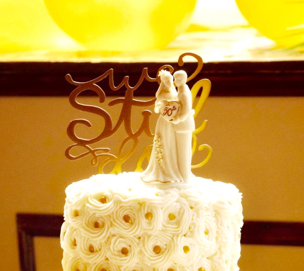 Personalized Wedding Cake Topper (Plastic) - uncommon-etching