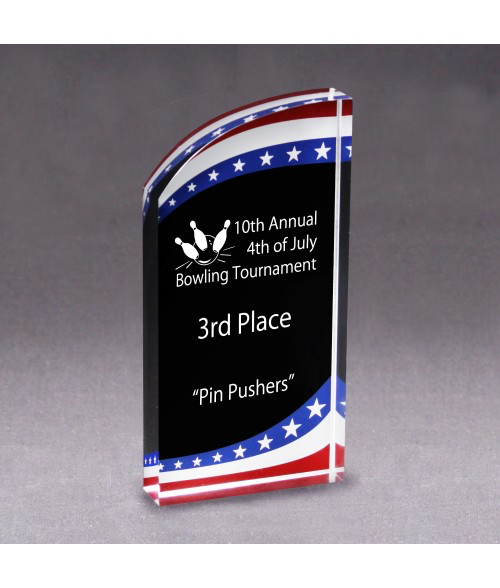 Acrylic Patriot Award/Trophy - uncommon-etching