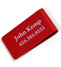 Load image into Gallery viewer, Personalized Anodized Aluminum Money Clip Wallet - uncommon-etching