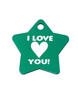 Personalized Star-Shaped Metal Tags Keychain - uncommon-etching