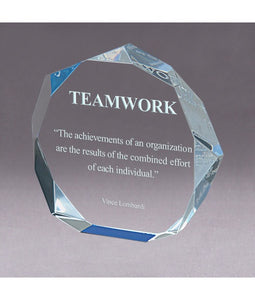 Acrylic Octagon Bevel Impress Award/Trophy - uncommon-etching