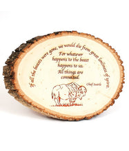 Load image into Gallery viewer, Basswood Round Natural Edge Bark Personalized Pieces - uncommon-etching