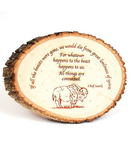 Basswood Round Natural Edge Bark Personalized Pieces - uncommon-etching