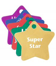 Load image into Gallery viewer, Personalized Star-Shaped Metal Tags Keychain - uncommon-etching