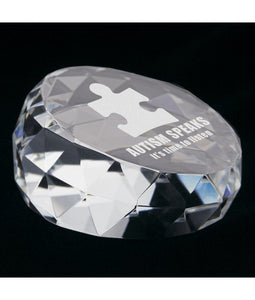 Personalized Genuine Crystal Paper Weight Shapes - uncommon-etching