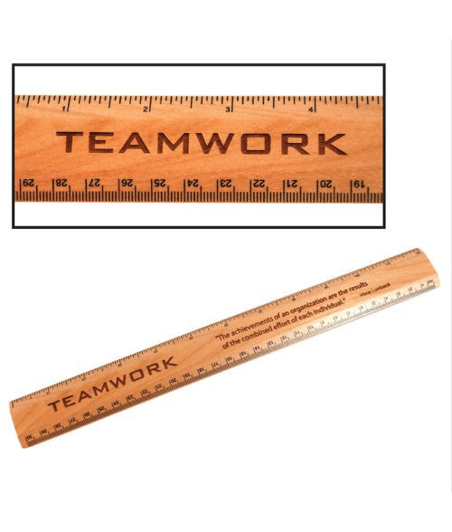 Personalized Maple Wood Ruler 1-3/8