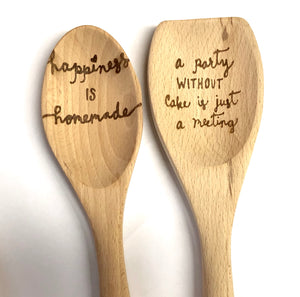Personalized Full-Length Wooden Spoon - uncommon-etching
