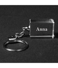 Load image into Gallery viewer, Personalized Genuine Crystal Keychains - uncommon-etching