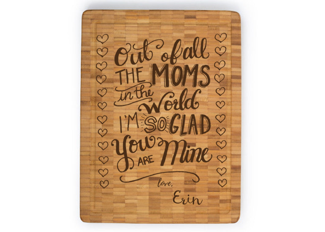 Personalized Large Bamboo Butcher Block (11.8
