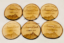 Load image into Gallery viewer, Personalized Genuine Birch Wood Circular Decorative Coasters