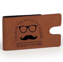 Load image into Gallery viewer, Personalized Leather Large Money Clip Wallet - uncommon-etching