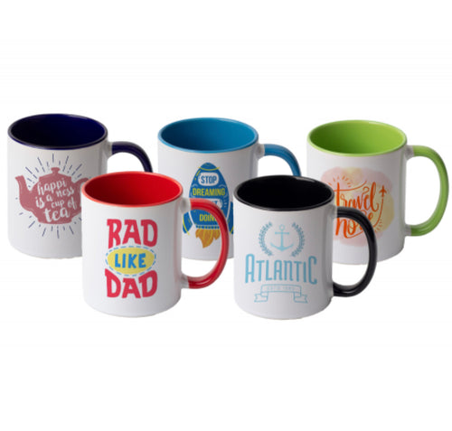 Customizable White With Inner Color 11 oz Ceramic Mugs