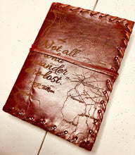 "Load image into Gallery viewer, Leather Bound Natural Custom Notepad 5""X7"" - uncommon-etching"