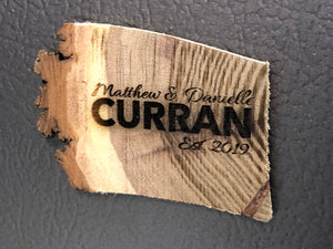 Custom Natural Wood Live Edge Refrigerator Magnets Personalized - uncommon-etching