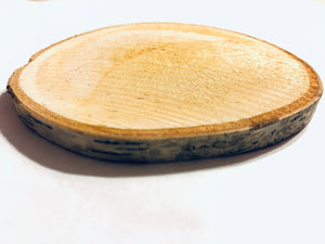 Personalized Genuine Birch Wood Circular Decorative Coasters - uncommon-etching