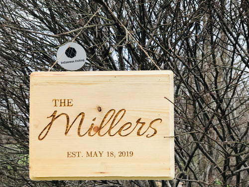 Custom Personalized Engraved Sign - uncommon-etching