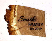 Load image into Gallery viewer, Custom Natural Wood Live Edge Refrigerator Magnets Personalized - uncommon-etching