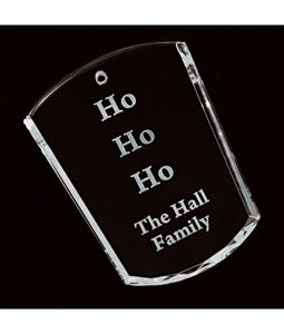 Personalized Votive Genuine Crystal Ornament - uncommon-etching