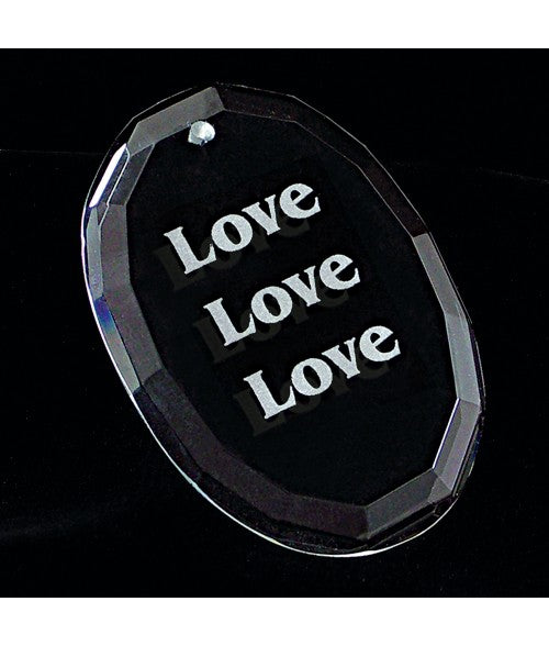 Personalized Oval Facet Genuine Crystal Ornament - uncommon-etching