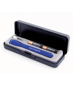 Personalized Customizable Blue Mini Maglite Flashlight Gift Set (AAA) - uncommon-etching