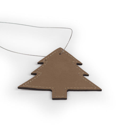Personalized Faux Leather Tree Ornament 3.5