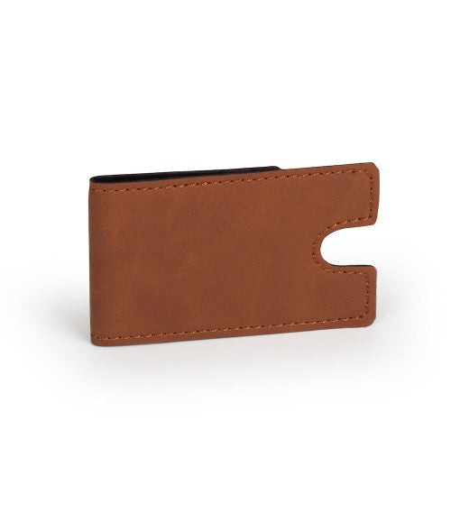 Personalized Leather Large Money Clip Wallet - uncommon-etching