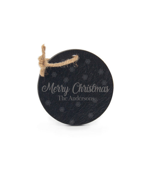 Personalized Round Slate Ornament 3