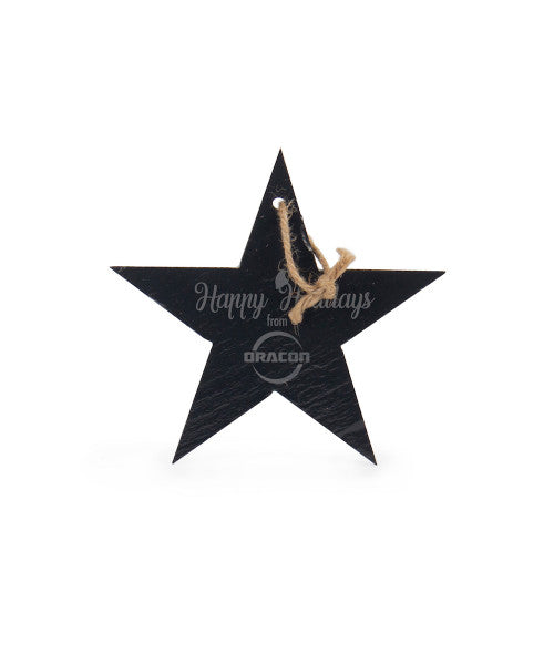 Personalized Star Slate Ornament 5