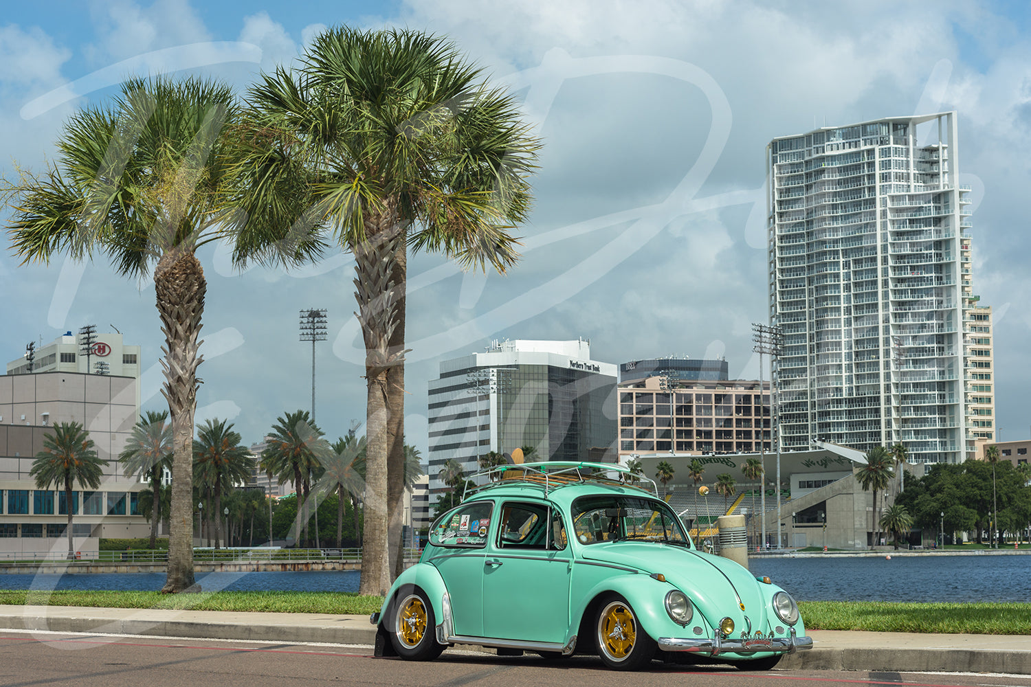 Fresh Mint Volkswagen beetle St Pete Florida - Original Print