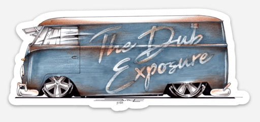 The Dub Exposure Logo'd Bus Vinyl Die Cut Decal
