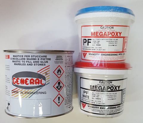 MARBLE ADHESIVES AND EPOXIES