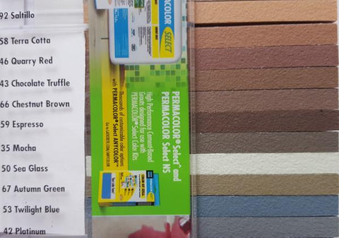 Laticrete grout colour chart