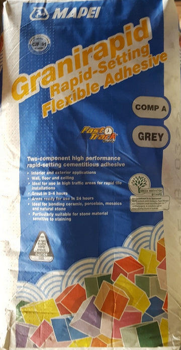 MAPEI GRANIRAPID WHITE OR GREY 20 KG POWDER (LIQUID SOLD SEPARATLEY)