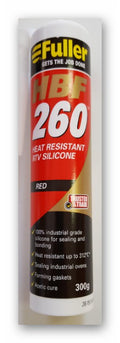Silicone Heat Resistant Fuller RTV 260 grs (red)