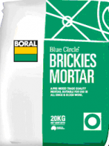 Brick and block mortar mix . Boral