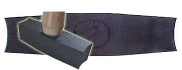 Hammer double edge concave finishing hammer not tungsten .
