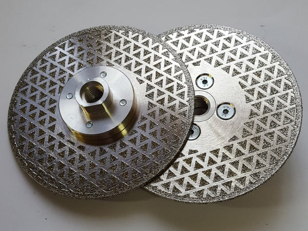 DIAMOND ELECTROPLATED  DEPRESSED CENTRE DISC M14
