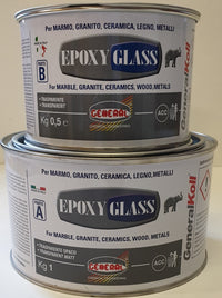 EPOXY GLASS GENERAL A=1KG + B=500GRS