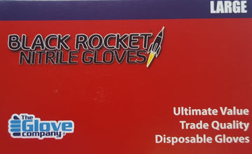 BLACK ROCKET NITRILE  GLOVES SIZE LARGE