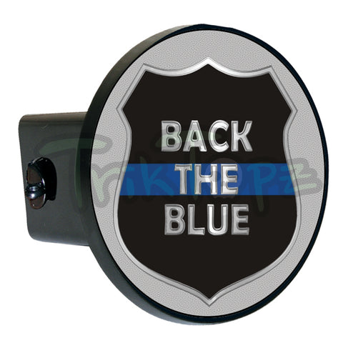 Badge Back The Blue Hitch Cover Item #1224