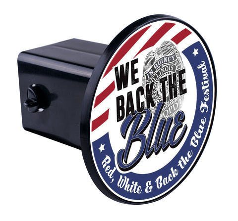 We Back The Blue Hitch Cover
