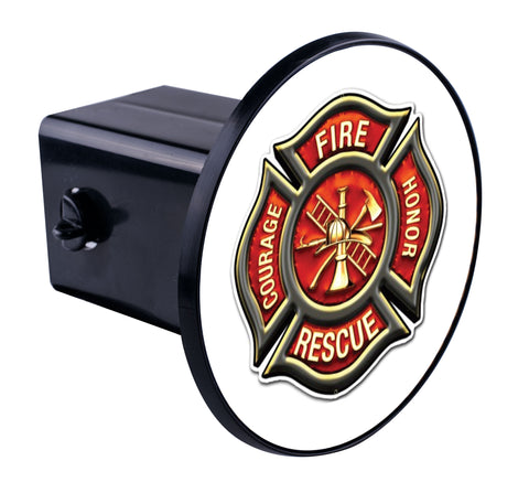 Fire Rescue Honor Maltese Hitch Cover
