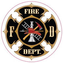 Load image into Gallery viewer, Fire Dept Black/White Maltese-Item #1233