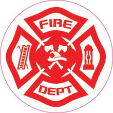 Load image into Gallery viewer, Red White Fire Dept. Maltese-Item #1235