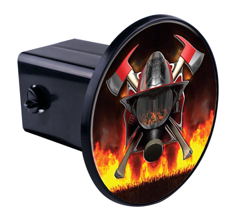Fire Cross Axe & Helmet Hitch Cover