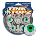 Eye Ball Valve Cap Green (4 Pack)