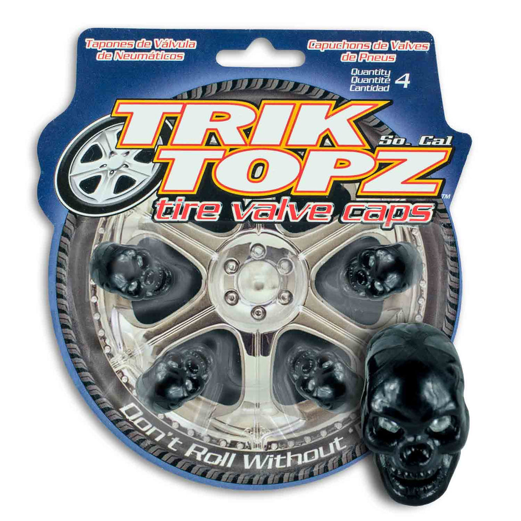 Skull Head Black (4 Pack)-Item #8031