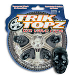 Skull Head Valve Cap Black (4 Pack)