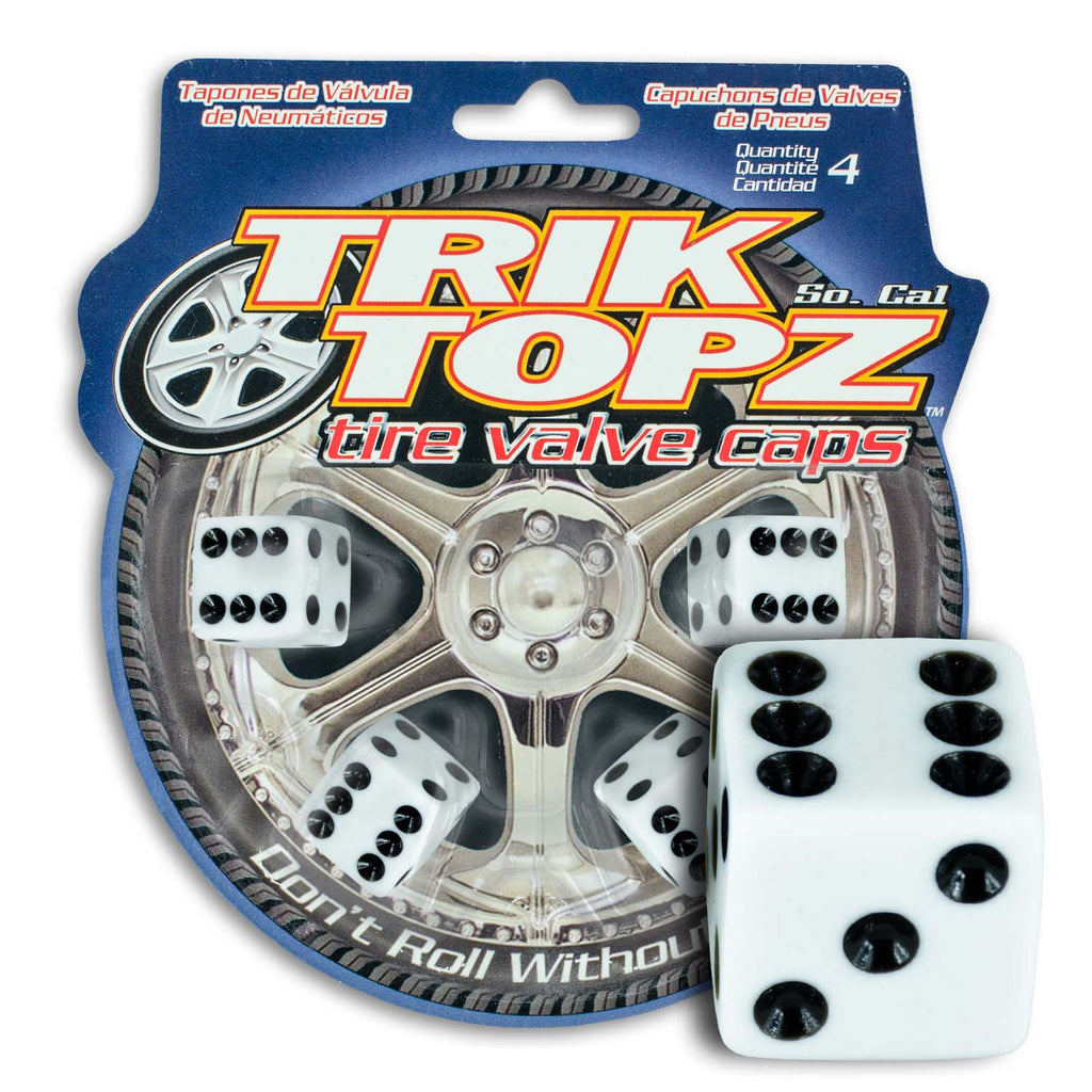 Dice White (4 Pack)-Item #8008